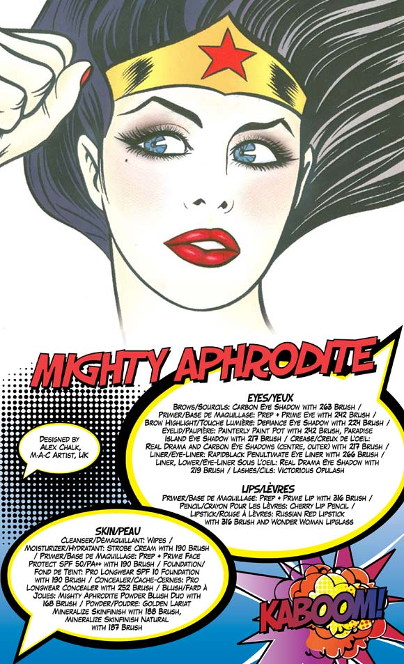 MAC Wonder Woman - Mighty Aphrodite Look