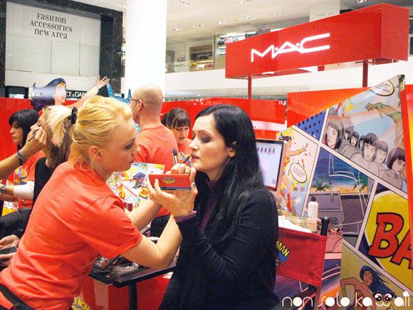 MAC Wonder Woman La Rinascente, Angela Chiappa e Anna Erouslanova