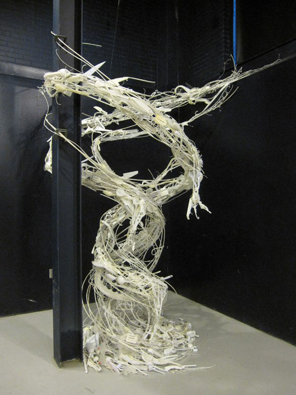 Sayaka Kajita Ganz, Convergence II - Two White Dragon Intertwined - Due Draghi Bianchi Intrecciati