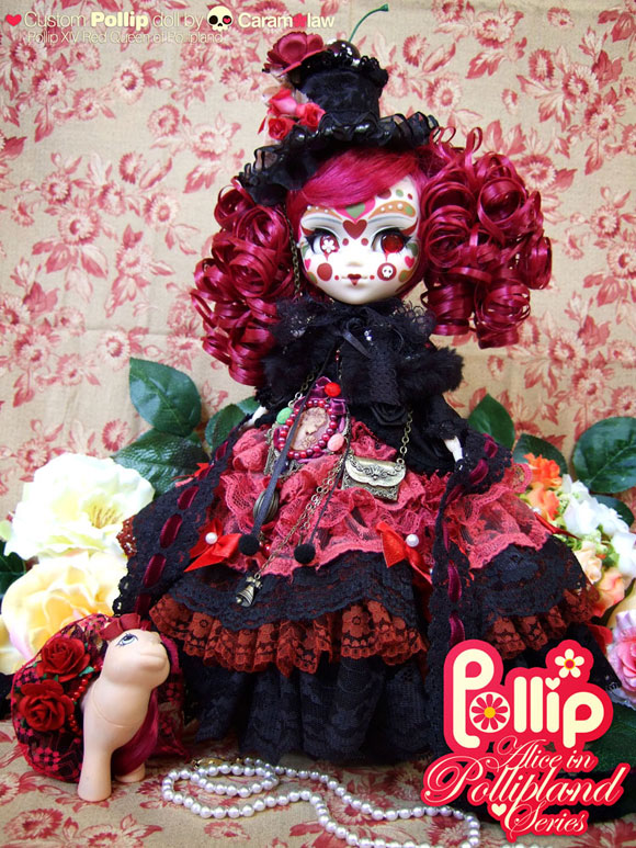Sheena Aw - Caramelaw, Pollip, Alice in Pollipland Series, Red Queen and pet Roselet