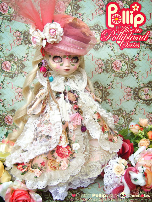 Sheena Aw - Caramelaw, Pollip, Alice in Pollipland Series, White Queen and pet Lil Lacie
