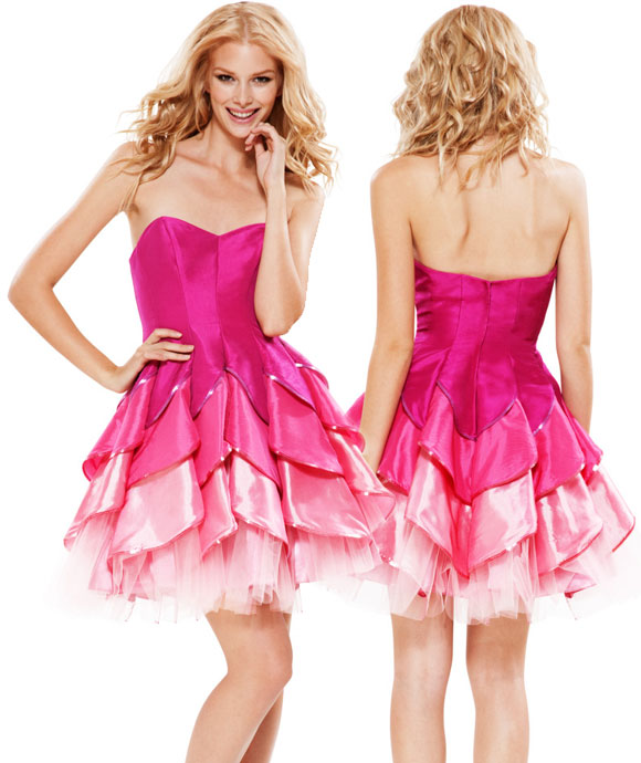 Betsey Johnson - Evening Dahlia Strapless Dress