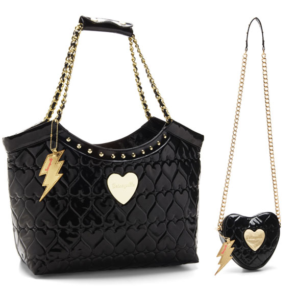 Betsey Johnson - Heart 2 Handle Tote Bag, Heart 2 Handle X Body Bag