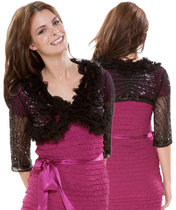 Betsey Johnson - Super Cropped Sburst Shrug