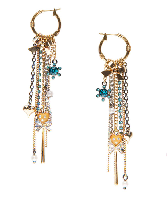 Betsey Johnson - Mini Circle & Chains Earrings