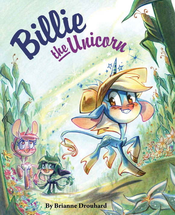 Billie The Unicorn, By Brianne Drouhard, Immedium, kawaii and cute children story, dolce racconto per bambini