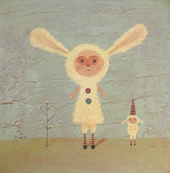 Elsa Mora - Best Friends, Bunny and Sheep, Coniglio e Pecora