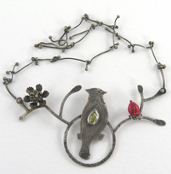 Elsa Mora - Bird Necklace, Collana Uccellino