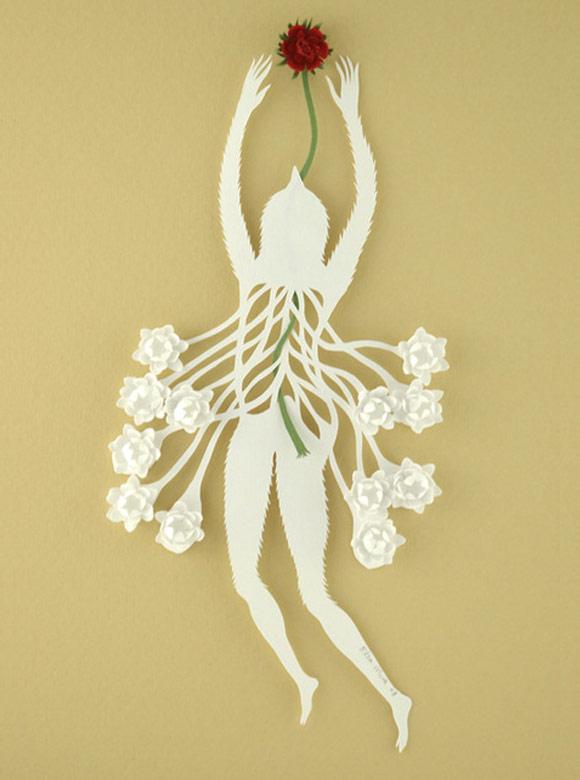 Elsa Mora - Inner Thread - Filo Interno scultura di carta