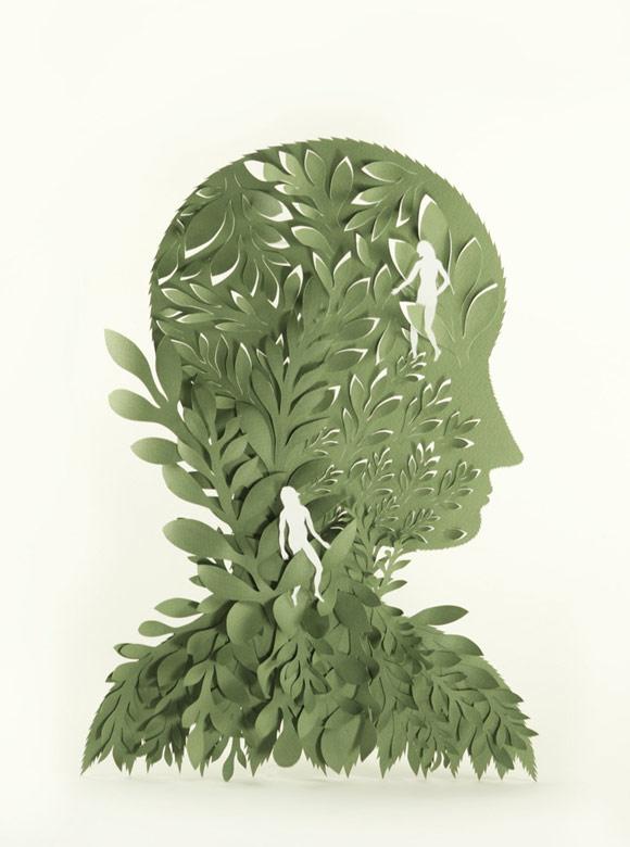 Elsa Mora - Fears Papercut, Paura scultura di carta