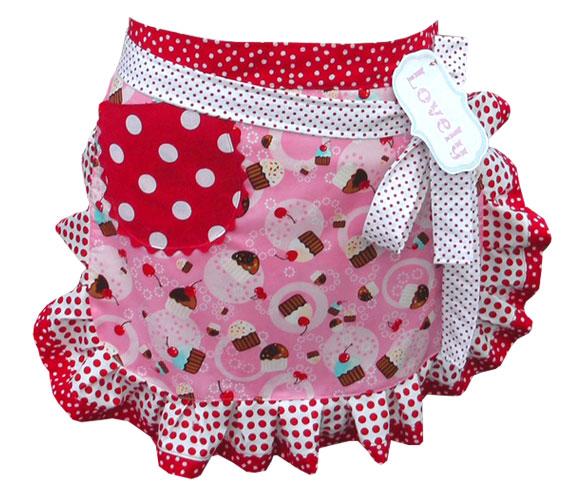 Pink Cupcake Party Apron, grembiule con torte kawaii