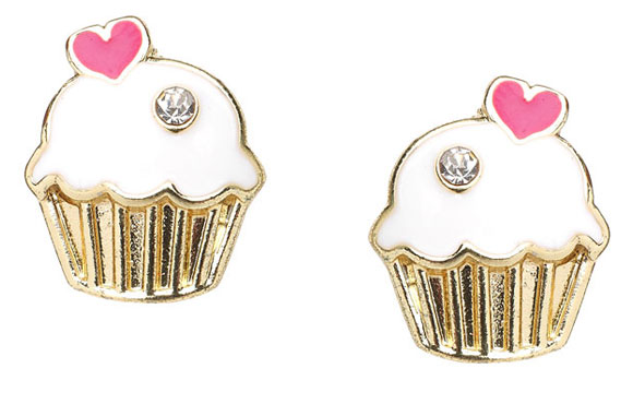 kawaii cute Cupcake Stud Earrings, orecchini pasticcini