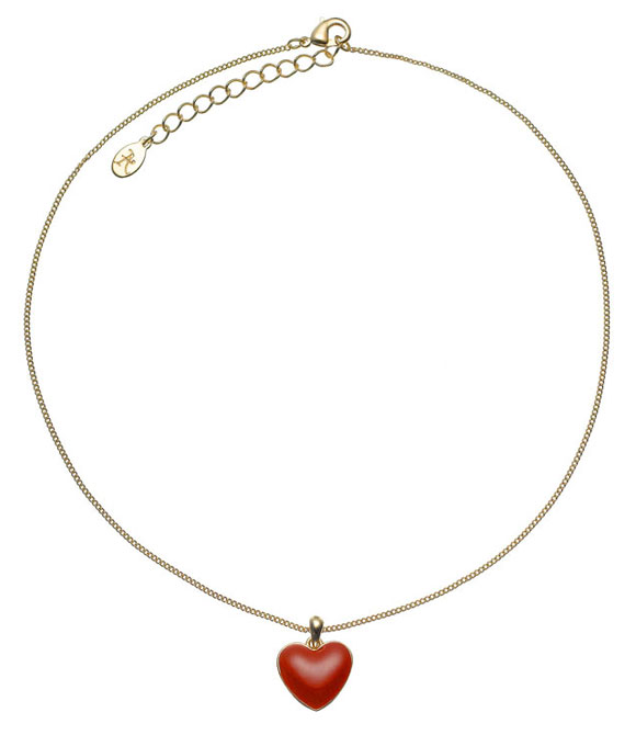 kawaii cute Enamel Heart Pendant Necklace, collana con cuore