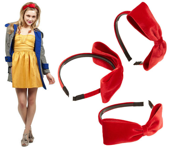 kawaii cute red headband with bow, cerchietto rosso con fiocco