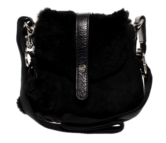 black UGG - Mini Crossbody Bag, borsa nera pelosa