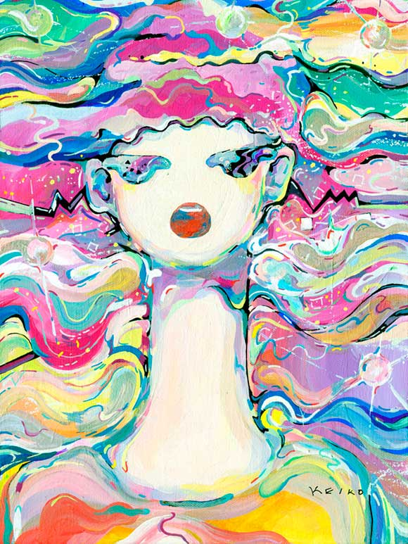 Ogawa Keiko - Sing (1), kawaii painting for #PrayForJapan
