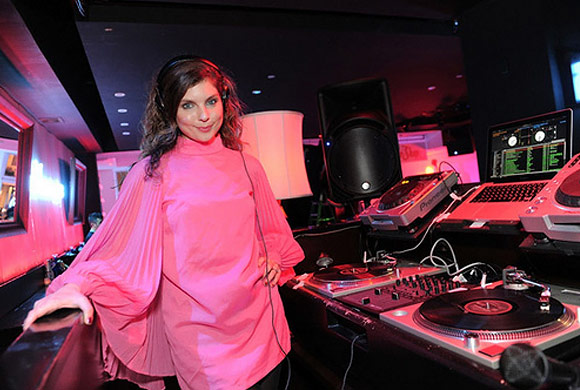 DJ Daisy O'Dell at the PUMA Social Club Launch Party