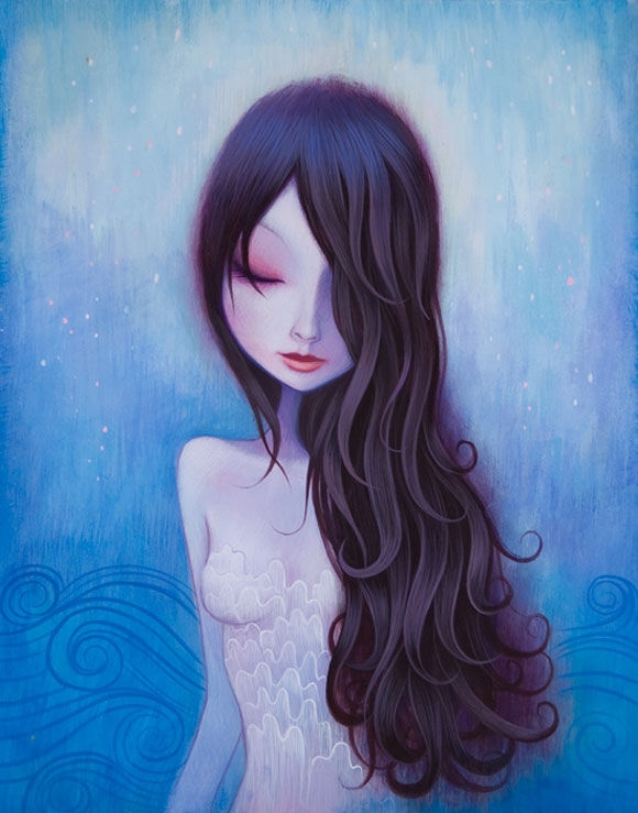 Jeremiah Ketner - On My Mind - Blue Beautiful Woman in the Water - Bellissima Donna Azzurra nell'Acqua