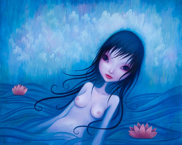 Jeremiah Ketner -  In The Sea We Are One - Blue Beautiful Woman in the Water - Bellissima Donna Azzurra nell'Acqua