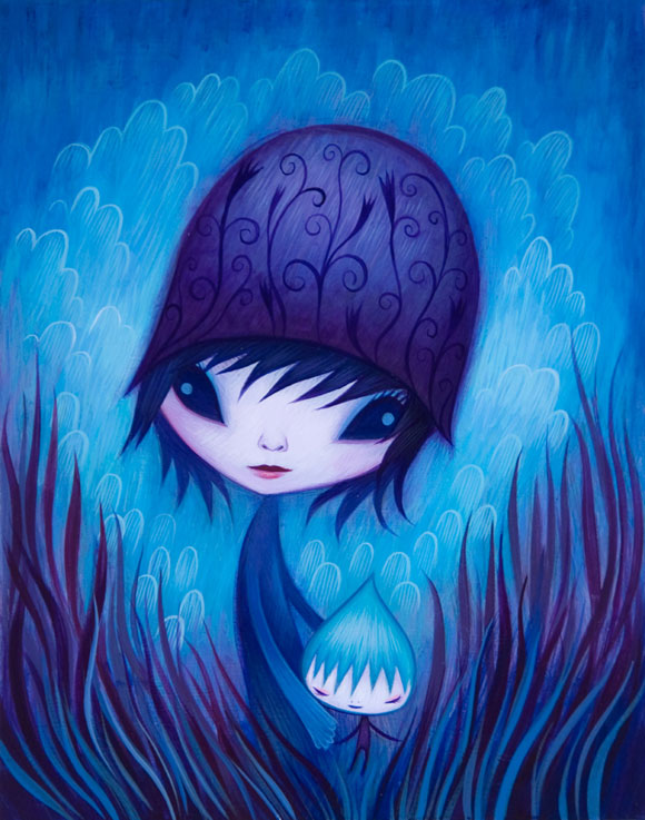 Jeremiah Ketner - Don't Leave Me, Baby - Blue little elf in a forest - Piccolo elfo blu nella foresta