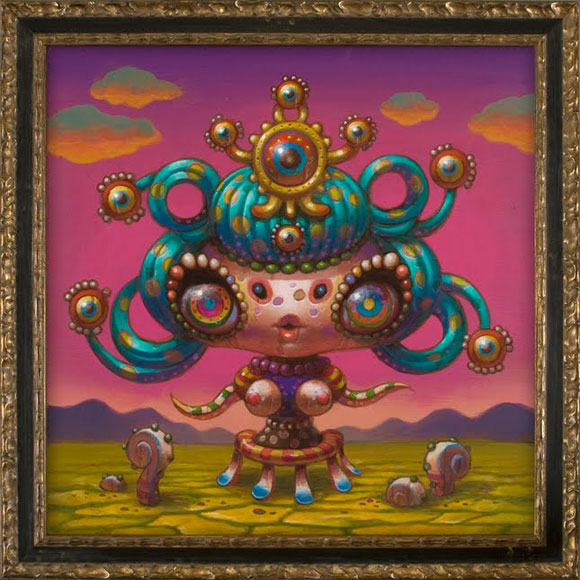 JYoko d'Holbachie - Spiral Girl - Cute and Colorful little Creature - Piccola creatura dolce e colorata