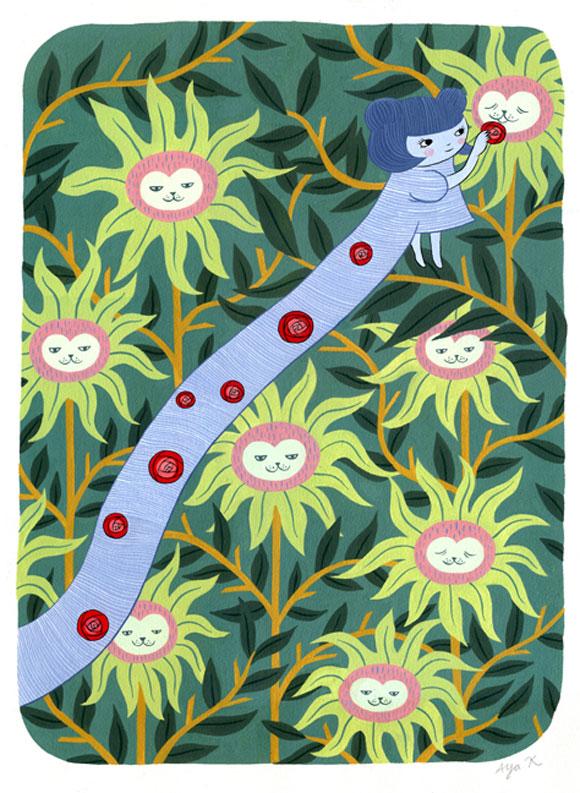 Aya Kakeda - Feeding Sunflowers