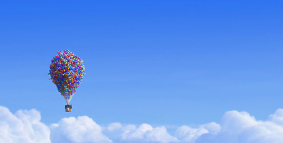 kawaii flying house of Up Disney Pixar movie