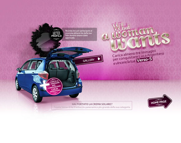 Toyota Verso-S, What a Woman Wants
