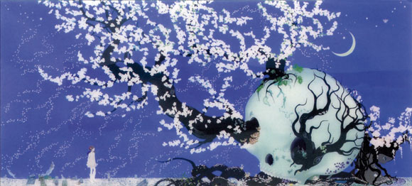 Chiho Aoshima - A Contented Skull, kawaii art