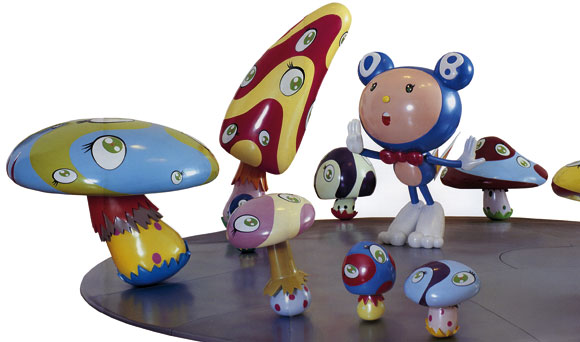 Takashi Murakami - DOB in the Strange Forest, kawaii art installation