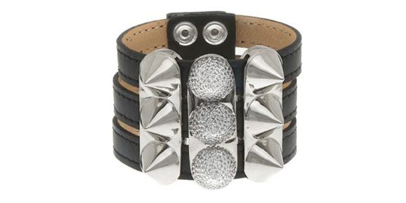 nOir - Triple Stack Leather Bracelet, bracciale punk, Nana Osaki