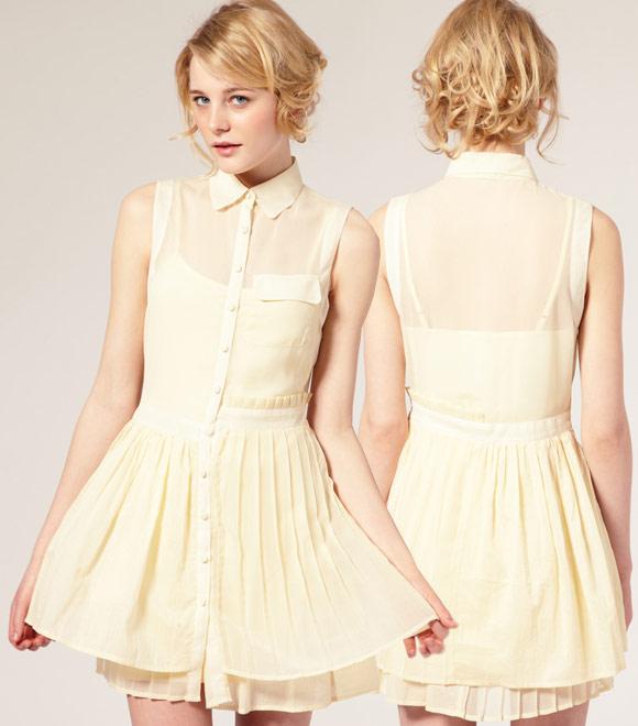 ASOS - Mixed Fabric Ruffle Dress, abito bon ton Nana Hachi Komatsu