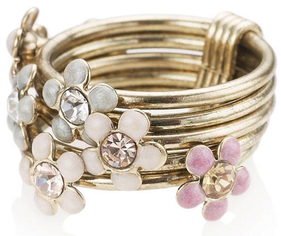 Accessorize - Flower Stacking Ring, anello fiori romantic Nana Hachi Komatsu