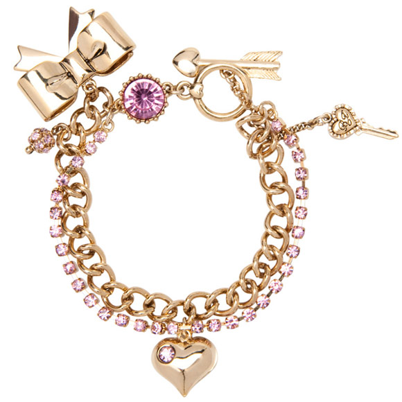 Betsey Johnson - Pink Cry Bow Tog, braccialetto fiocco kawaii, Nana Hachi Komatsu