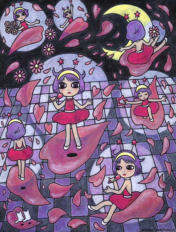 Sayaka Iwashimizu - あの子の魔法の天使たち, kawaii Magical Girls creamy mami: Art Inspired by Shōjo Manga