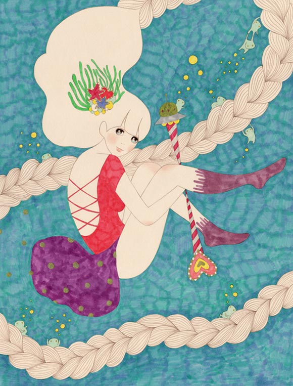 Kayo Tamaishi - 愛と勇気の魔法を胸に, Magical Girls: Art Inspired by Shōjo Manga