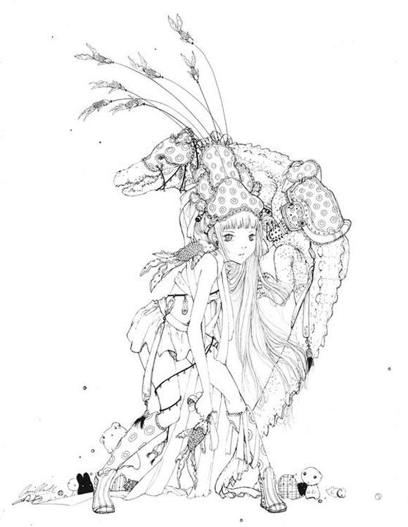 Camilla D'Errico - Crocodile Fisherman, kawaii Magical Girls: Art Inspired by Shōjo Manga
