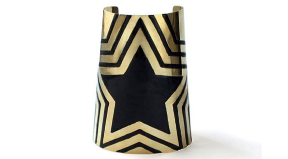 Noir Jewelry - Wonder Woman Enamel Cuff Bracelet with stars - Polsiera Bracciale Wonder Woman Smaltato con Stella