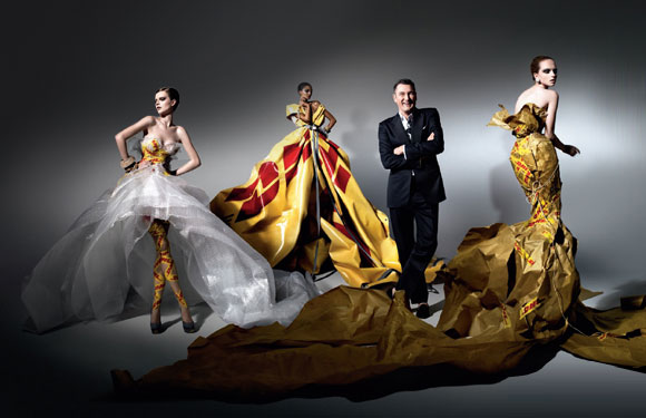 Michael Michalsky for DHL, Haute Couture, fashion and recycle, moda e reciclo