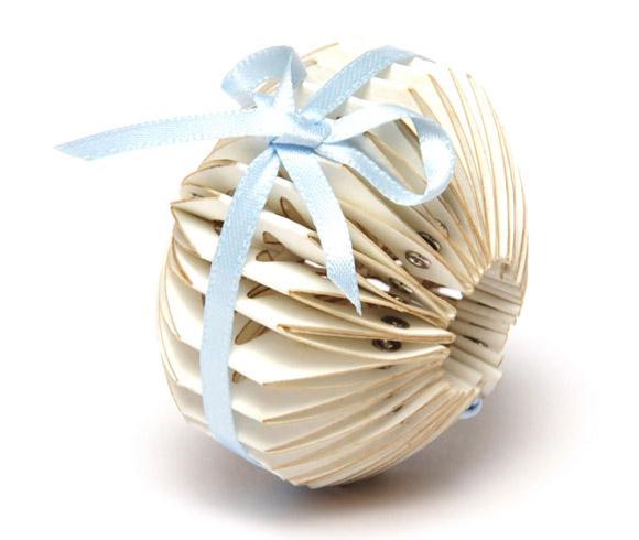Saloukee, Tied Adjoining Paper White Bracelet, Bracciale bianco di carta