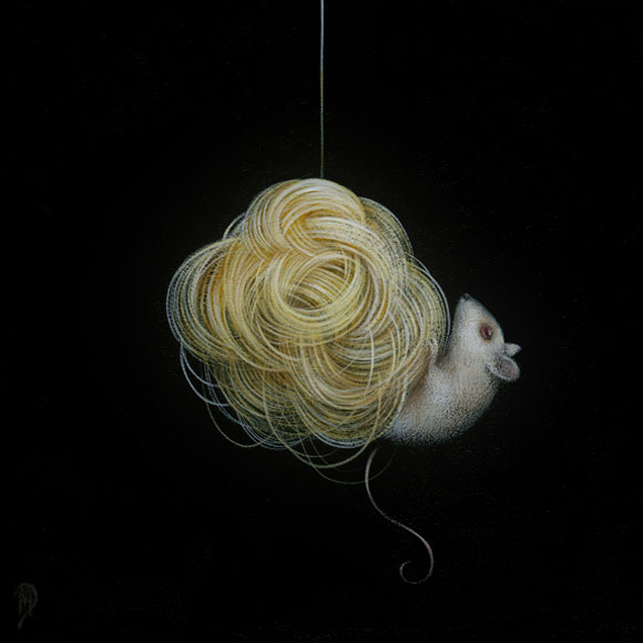 Tiny Trifecta - Dan May, Nest, Acrylic on Wood, 8