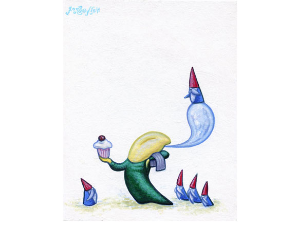 Tiny Trifecta - Nathan Spoor, We Want The Cupcakes, Acrylic