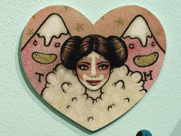 Tiny Trifecta - Tara McPherson, Acrylic on Heart