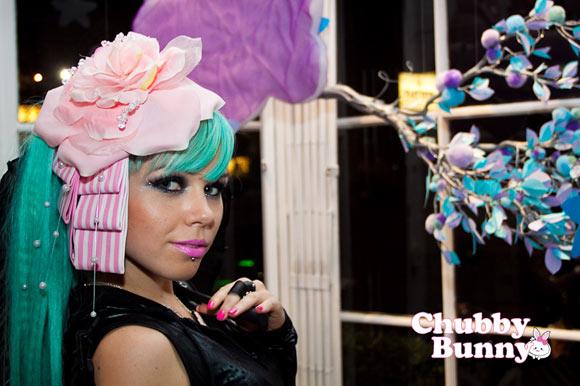 Kerli with Chubby Bunny Rosy Garden Lolita Headpiece