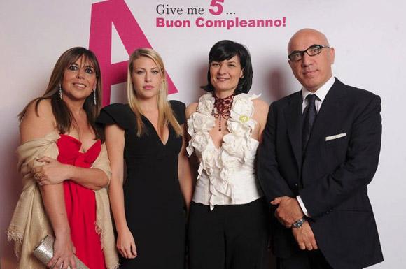 A 5th birthday - Ferruccio De Bortoli, Simona Girella, Antonello Perricone and his wife Chicca.
