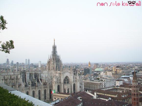il duomo di Milano visto da Terrazza Martini di giorno