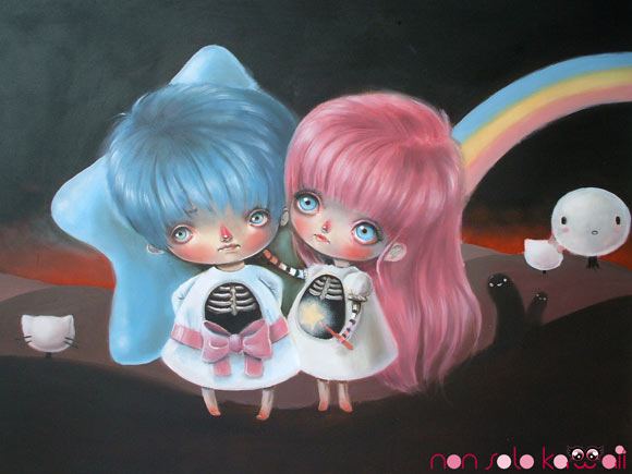 Ania Tomicka, @Sanrio for Smiles, dark little twin stars