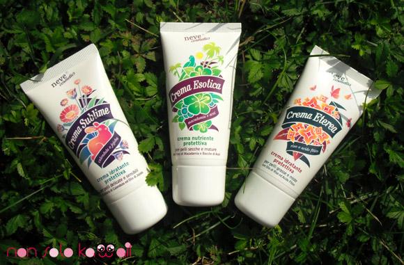 Neve Cosmetics, Skincare, Crema Sublime, Crema Esotica, Crema Eterea