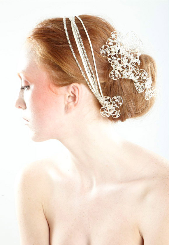 Colette Malouf - Bridal Pearl Headstraps and Pins, Mermaid Sirena kawaii look