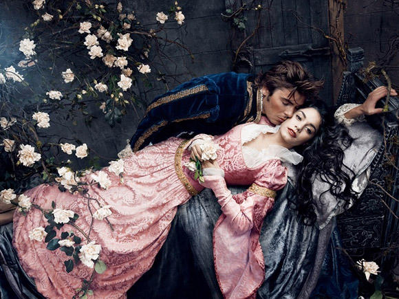 Annie Leibovitz for Disney: Zac Efron and Vanessa Hudgens from Sleeping Beauty / Annie Leibovitz per Disney: Zac Efron e Vanessa Hudgens dalla Bella Addormentata nel Bosco